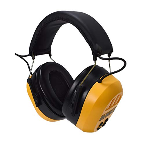 DEWALT Bluetooth Hearing Protector, Black/Yellow, Model:DPG17