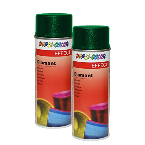 2X DUPLI Color Diamant Spray LINDGRÜN Effekt GLITZERLACK GLITZEREFFEKT DIAMANTEF