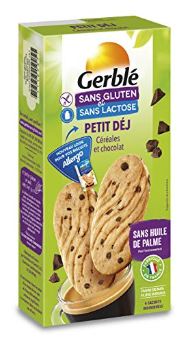 Gerblé Biscuits Petit Déjeuner, Sans gluten & Sans lactose, 16 biscuits, 200 g, 207508
