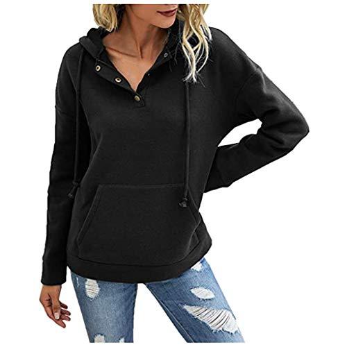 Sudadera de manga larga para mujer, estilo informal, para otoño e invierno, con cremallera, cuello en V