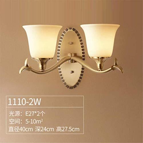 L-C plafondlamp koperen muur lamp slaapkamer nachtlampje Amerikaanse stijl moderne woonkamer eenvoudige retro verlichting creatieve siel trap gang lichten