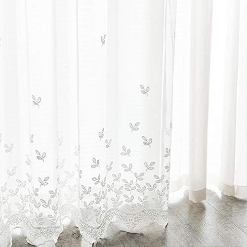 Dido´s Cortinas habitación salón Modernas translucidas de poliéster, Visillos con Ojales Barra...