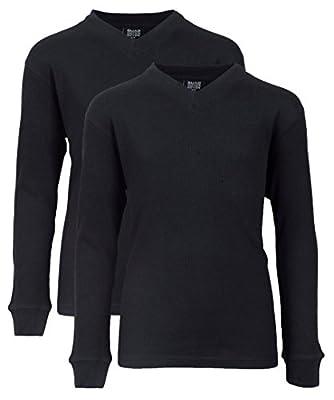 Quad Seven 2-Pack Boys' Long Sleeve V Neck Thermal Shirt