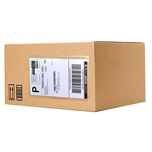 SJPACK 6 x 9 Packing List Envelopes, 100 Packs Clear Self Adhesive Shipping Labels Pouches