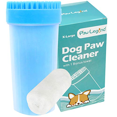 Upgrade 2 in1 Dog Paw Cleaner & Pet Grooming Brush - Portable Pet Paw Cleaner with Towel,Soft...