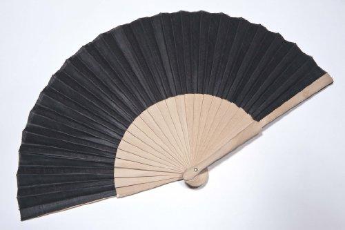 Bailando Fächer aus Holz + Stoff, 21cm, (802), blk