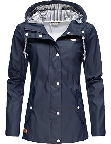 Ragwear Damen Übergangs-Jacke Outdoorjacke Regenmantel YM-Marge Navy20 Gr. XXL