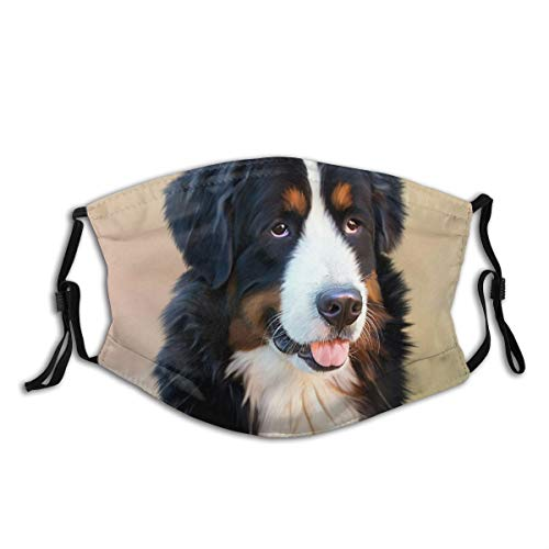yinchuyindianzi Dog Bernese Mountain Dog Senner Dog Pet Good Replaceable Filter and Washable, Suitable for Running, Cycling, Outdoor Activities