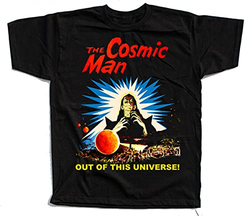ASDF The Cosmic Man, Movie Poster 1959, T-Shirt (Black,Navy,Brick)