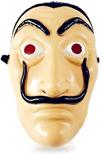 Salvador Dali Face Mask, La Casa De Papel gezichtsmasker Money Heist Masker Cosplay Prop for Halloween Party grappige kostuums Cosplay lsmaa