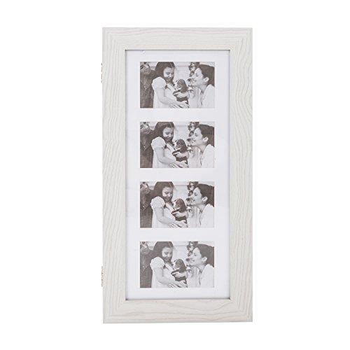 Bonnlo Jewelry Armoire with Photo Frame, 23.62 x 11.81 x 3.55 inch, Key Storage Cabinet, Wall Mount