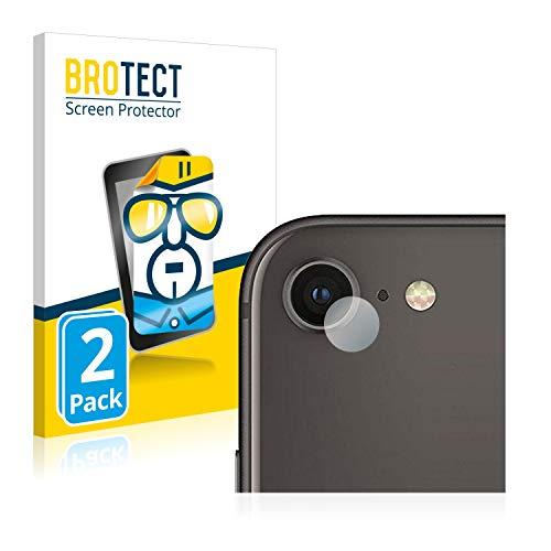 BROTECT Protector Pantalla Compatible con Apple iPhone 8 (sólo Cámara) Protector Transparente (2 Unidades) Anti-Huellas