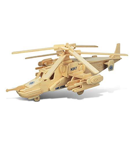 의아해 3D 퍼즐 블랙 상어가 헬리콥터 나무 공예 건축 모형 키트 교육 DIY 장난감 나무로 되는 조립하는 모델은 미완성 공예 취미군 퍼즐을 구축 페인트를 위한 훈 84 개 PACK