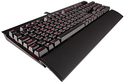 Corsair K70 RAPIDFIRE Tastatur USB QWERTY UK Englisch Schwarz - Tastaturen (Verkabelt, USB, Mechanischer Switch, QWERTY, LED, Schwarz)