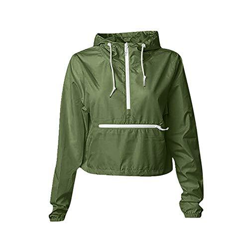 Chaqueta de mujer casual deportiva con capucha otoño e invierno chaqueta de mujer abrigo abrigo cremallera chaqueta - verde - Medium