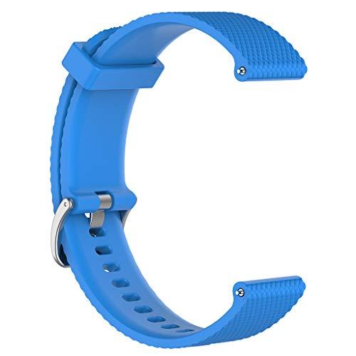 Dabixx, Cinturino di Ricambio in Morbido Silicone per Huawei Watch GT/Honor Watch Magic/Ticwatch PRO – Nero – S, Silicone, Blu Cielo, Small