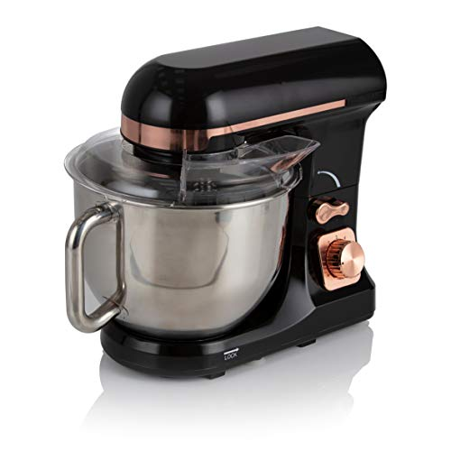 Tower T12033RG 3-in-1 Stand Mixer with 6 Speeds and Pulse Setting, 1000W, Rose Gold