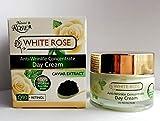 Crema de día antiarrugas 'rosa blanca y negro Caviar' 30+