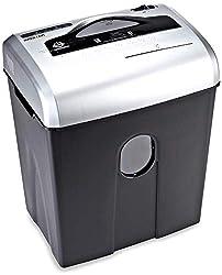 AmazonBasics Aktenvernichter, 10-12 Blatt, Kreuzschnitt, CD-Schredder