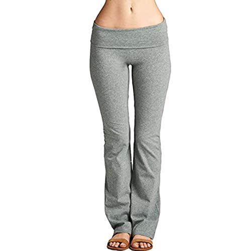Topkeal - Leggings push-up para mujer, pantalones de yoga, pantalones de entrenamiento, gimnasio, pantalones elásticos, pantalones de deporte, fitness, control abdominal gris XL