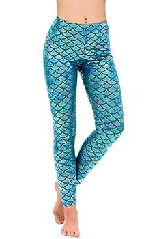 Shiny Fish Scale Mermaid Leggings Pants