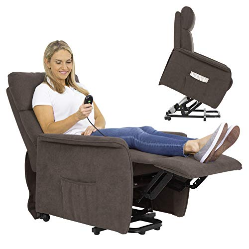 Vive Compact Lift Chair - Power Massage Recliner For Elderly, Senior, Men, Women - Safely Stand with Massaging and Heat Features - Comfortable Cushion for Living Room, Bedroom - Electric Standing Seat