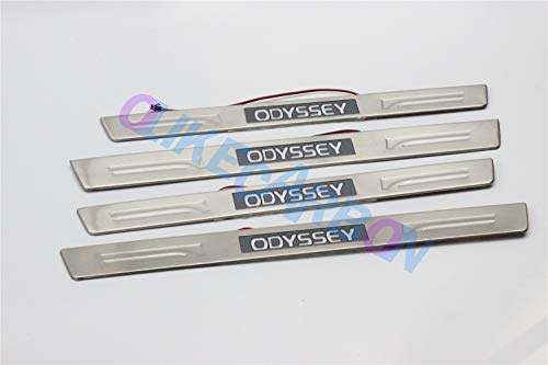 OLIKE for Honda Odyssey 2011-2017 Led Door Sill Scuff Plate Guard Sills Protector Trim