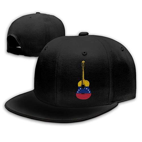 DAIAII Hombre Mujer Gorras de béisbol, Venezuela Flag Guitar Art Unisex Adjustable Plain Baseball Cap Dad Hat