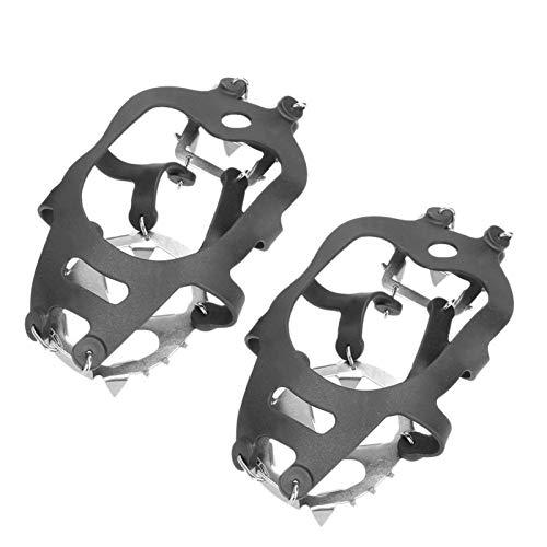 NMSGS0 Elegante 18 Dientes Pesca Hielo Zapato de Nieve Spiked Grips Pelteos Crampones Invierno Escalada Camping Anti resbalón Senderismo Raquetas de Nieve Cubierta de Zapato Fácil de Usar