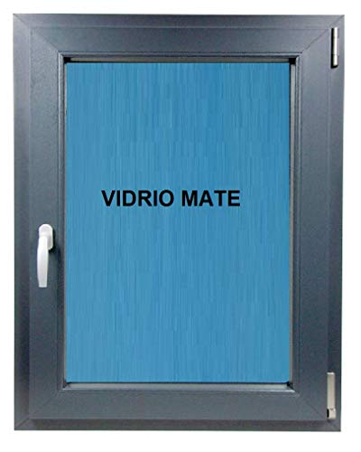 ECO-BLU (V28M) Ventana Baño Pvc Gris Antracita Oscilobatiente Derecha Vidrio Climalit Mate, 500x600 mm