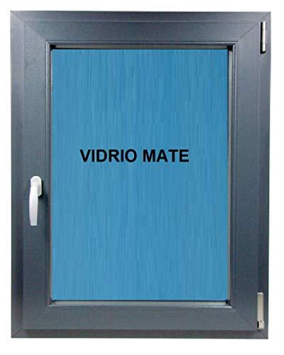 (V28M) Ventana Baño-500x600-Pvc-Gris-Antracita-Oscilobatiente-Derecha-Vidrio-Climalit-Mate