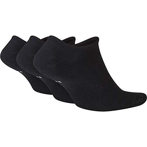 NIKE U NK NSW Everyday Essential NS 3Pr Socks, Unisex Adulto, Black/White, XL
