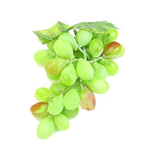 Super1798 36 piezas en 1 ramo de uvas de plástico artificial para decoración del hogar