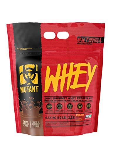 Mutant Whey, Integratore alimentare di proteine polvere solubile, Gusto cioccolato, 4.54 kg