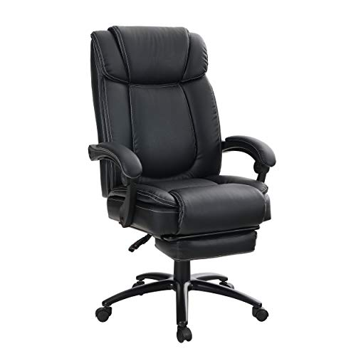 ALPHA HOME Executive Chair High Back Ergonomic Office Chair Adjustable Recliner Managerial Computer Desk Chair with Retractable Footrest Big Tall Rolling Swivel with Caster -Weight Capacity 400 lbs