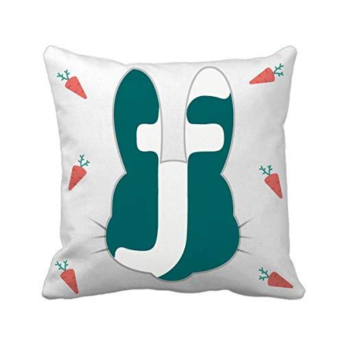 Butlerame Aruban Währungssymbol Florin AWG Kaninchen Throw Pillow Square Cover 20x20in