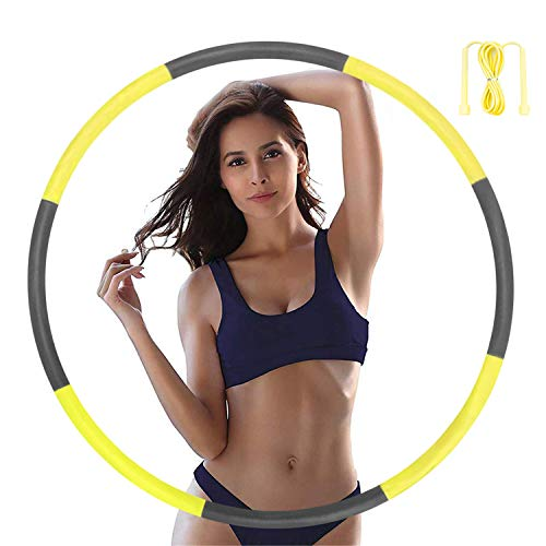 Hoola Hoops for Adults - Weighted Hoola Hoops for Exercise - Hoola Hoop for Kids, 2lb Weighted Hoola Hoop, 8 Detachable Sections - Professional Hoola Hoops