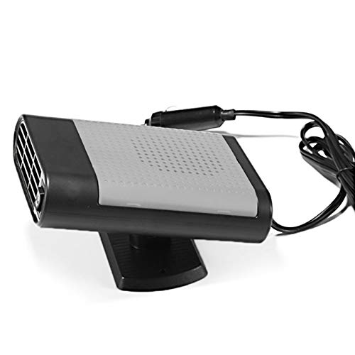 Calentador de automóviles: Ventilador Fresco Caliente para la Ventana de Parabrisas de automóviles Demister de la Ventana, Soporte Giratorio (DC 12V), Calentador doméstico, Monsteramy