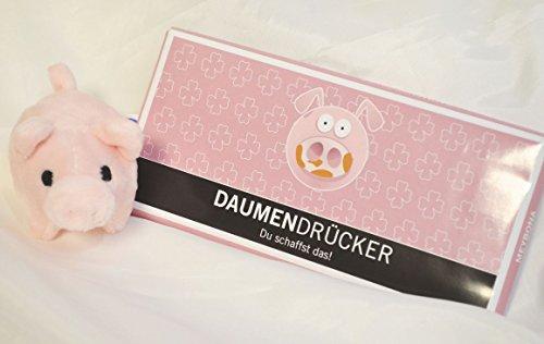 Unbekannt Geschenkset: Mini Glücksschweinchen, Schokolade Daumendrücker 100 gr. ###