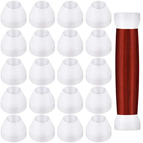 Pen Bushings White Pen Bushings Non-Stick Durable Pen Bushings Synthetic Bushings for CA Finishing Pen Turning (20 Pieces)