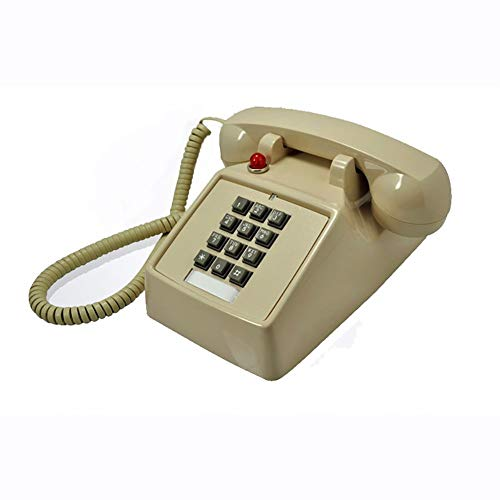 SXRDZ Black Classic Retro 1970s Vintage Style Landline Telephone, Features Traditional Bell Ring And Push Button Dial - Plugs Into Standard Phone Socket (Color : Red) (Color : Bee)