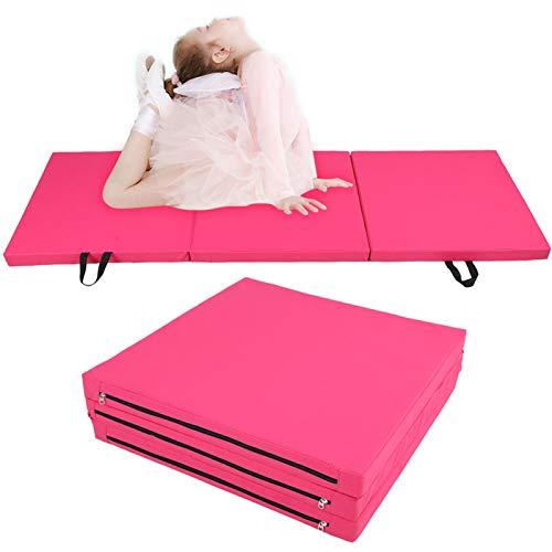 BOLORAMO Estera de Yoga Fitness Resistente al Desgaste para Gimnasia(Rosado)