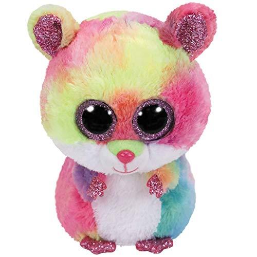 TY TY36416 Rodney, Hamster bunt 24cm Beanie Boo's, Mehrfarbig