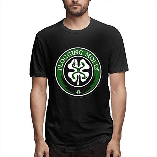 Cotton Tees with Flogging Molly Design Travel Hombre/Men's Top T-Shirts for Men Camisetas Hombre