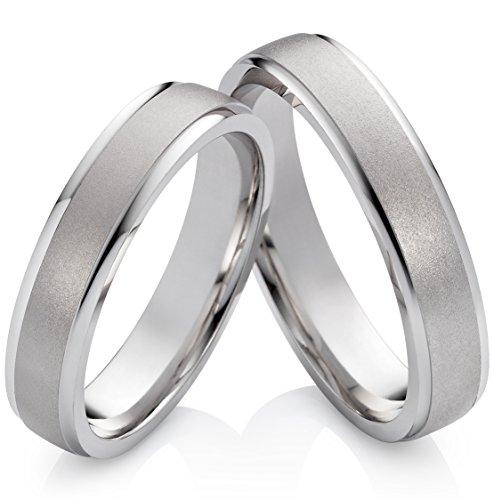 Eheringe Verlobungsringe Trauringe aus 925 Silber ohne Stein mit Gravur S609