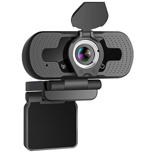 HD 1080P Webcam with Built-in Microphone YEEHAO USB PC Laptop Portable Web Camera with Privacy Cover for Livestream Video Call Gaming Online Lessons, Home & Office (Black)