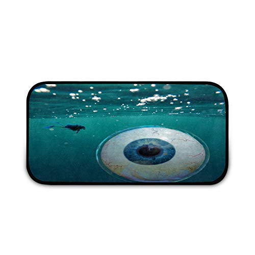 Felpudo bajo el agua, fácil de limpiar, antideslizante, para entrada de patio, puerta delantera, garaje, cocina, baño, cuarto de lavandería, todo tipo de clima, interior y exterior