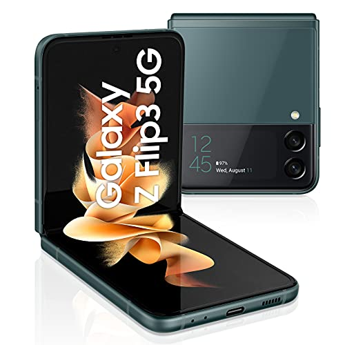 Samsung Galaxy Z Flip3 5G (17,03 cm) , faltbares Handy ohne Vertrag, großes 1,9 Zoll Frontdisplay, 256 GB interner Speicher, 8 GB RAM, Green, inkl. 36 Monate Herstellergarantie [Exklusiv bei Amazon]