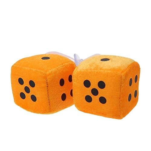 1 Par De Dados, Puntos Blancos, Retrovisores, Colgadores De Espejo, Colgante Vintage For Coche, Decoración De Interiores, Accesorios For Automóviles Decorate (Color Name : Orange)