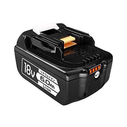 BL1860b マキタ互換バッテリー Makitaバッテリー 18V 6.0Ah BL1815 BL1830 BL1840 BL1850 BL1860 BL1890対応 残量ライト付き